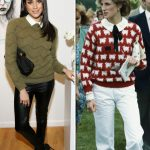 Princess Diana and Meghan Markle Both have also worn very 80s jumper and shirts combos Photo C GETTY IMAGES