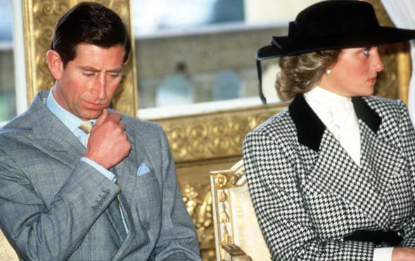 Princess Diana and Prince Charles during their strained marriage Photo (C) GETTY