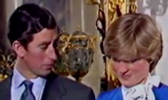 Princess Diana engagement interview Prince Charles looks to Diana for reassurance Photo (C) YOUTUBE