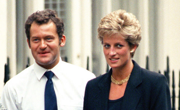 Princess Diana pictured with her butler Paul Burrell three years before her death Photo (C) GETTY IMAGES
