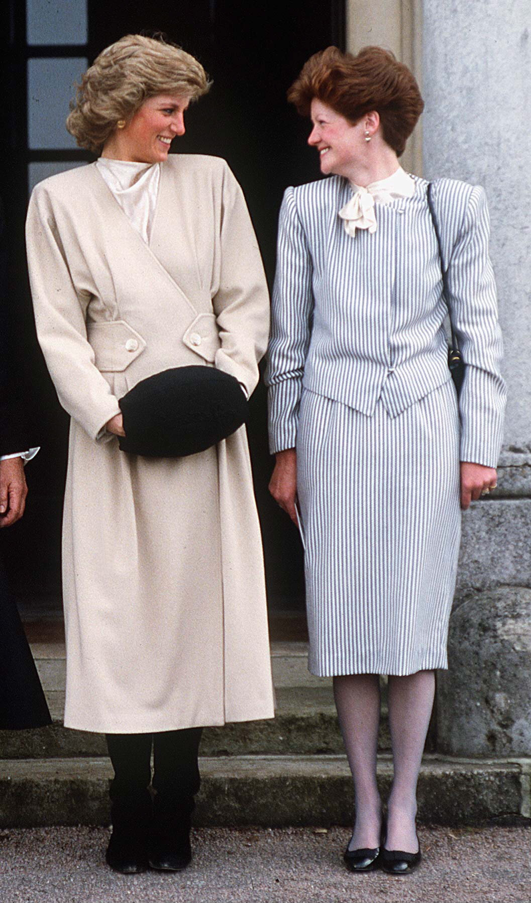 WEST HEATH, UNITED KINGDOM - NOVEMBER 12:  Princess Diana With Her Older Sister Lady Sarah Mccorquodale On A Visit To Their Old School, West Heath, In Kent.  (Photo by Tim Graham/Getty Images)