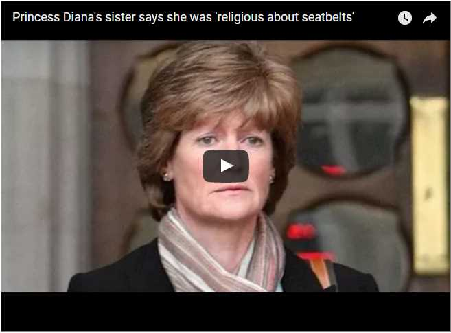 Princess Dianas sister says she was religious about seatbelts