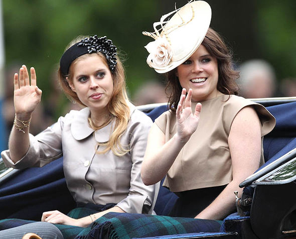 Princess Eugenie and Princess Beatrice at the Trooping the Colour Parade Photo (C) GETTY