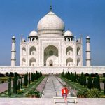 Princess of Wales in front of the Taj Mahal 1992 Photo C PA