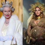 Queen Elizabeth and Queen B. Photo C GETTY IMAGES