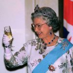 Queen Elizabeth is partial to a glass of champers [Getty]