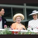 Queen Mother with Prince Charles and Princess Diana 1986 Photo C GETTY IMAGES