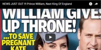 NEWS JUST OUT !!! Prince William, Next King Of England