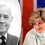 Squadron Leader Graham Laurie and Princess Diana Photo C BBC THREE COUNTIES RADIONICK COFFER PA
