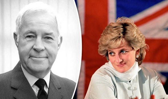Squadron Leader Graham Laurie and Princess Diana Photo (C) BBC THREE COUNTIES RADIONICK COFFER, PA