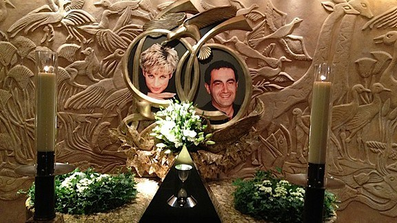 The Controversial Diana & Dodi Memorial at Harrods in London Photo (C) GETTY IMAGES