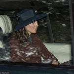 The Duchess of Cambridge joined Prince William for the short journey to the Crathie Kirk chapel a stones throw away from Balmoral yesterday morning