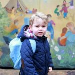 The Duke and Duchess of Cambridge shared this photograph with the public when Prince George started nursery Getty