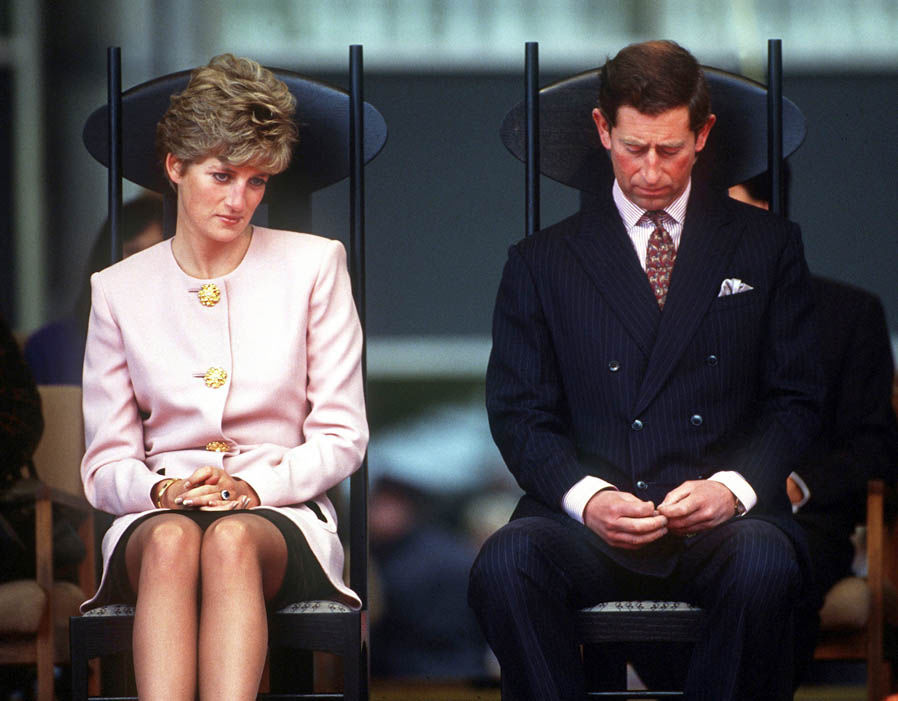 The Prince and Princess of Wales attend a welcome ceremony in Toronto at the beginning of their Canadian tour, October 1991 Photo (C) GETTY