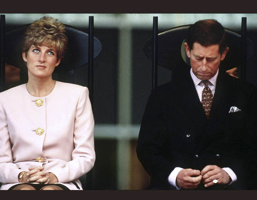 The Prince and Princess of Wales during a visit to Bamenda in Cameroon, 1990 Photo (C) GETTY IMAGES