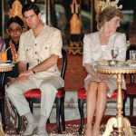 The Prince and Princess of Wales watch Indonesian tribal dancers in Yogyakarta Photo C AFP GETTY