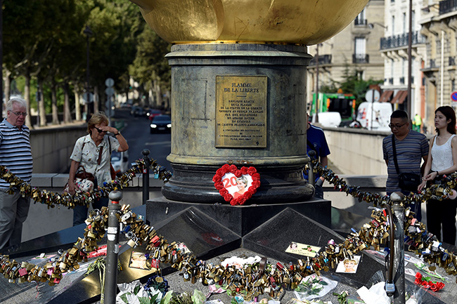 The Princess is also being remembered in Paris Photo C GETTY