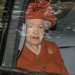 The Queen looked elegant in a terracotta coloured jacket and matching hat while the Duke of Edinburgh smartened up in a tweed jacket