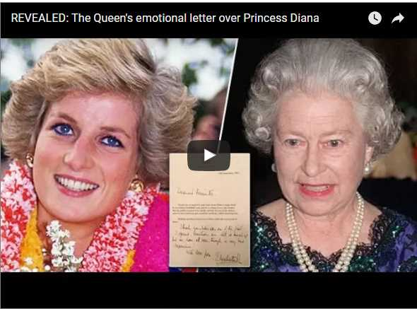The Queens emotional letter over Princess Diana