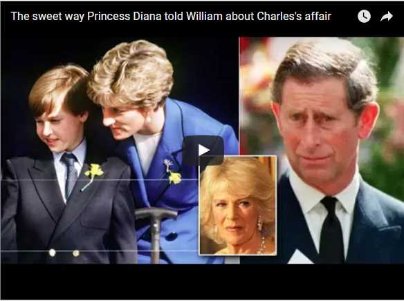 The sweet way Princess Diana told William about Charles's affair