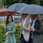 The three head to the White Garden to mark the 20th anniversary of the Princes mothers death Image PA