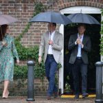 The three leave Kensington Palace to visit the memorial Image PA