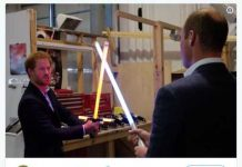 Time for a lightsaber battle Photo (C) TWITTER