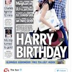 Tomorrows front page Besotted Prince Harry wraps an arm around girlfriend Meghan Markle on romantic holiday for her 36th birthday