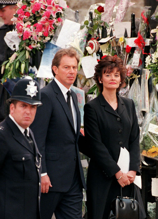 Tony Blair at Princess Diana's funeral Photo (C) GETTY