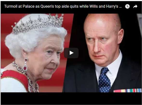 Turmoil at Palace as Queens top aide quits while Wills and Harrys aides consider standing down