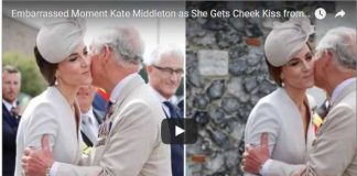 Watch Video Embarrassed Moment Kate Middleton as She Gets Cheek Kiss from Prince Charles at Passchendaele