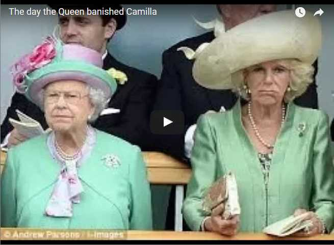 Watch Video The day the Queen banished Camilla