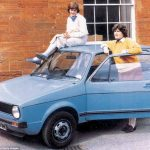 With her flatmate Virginia Pitman and her prized Volkswagen Golf which Diana acquired in 1979