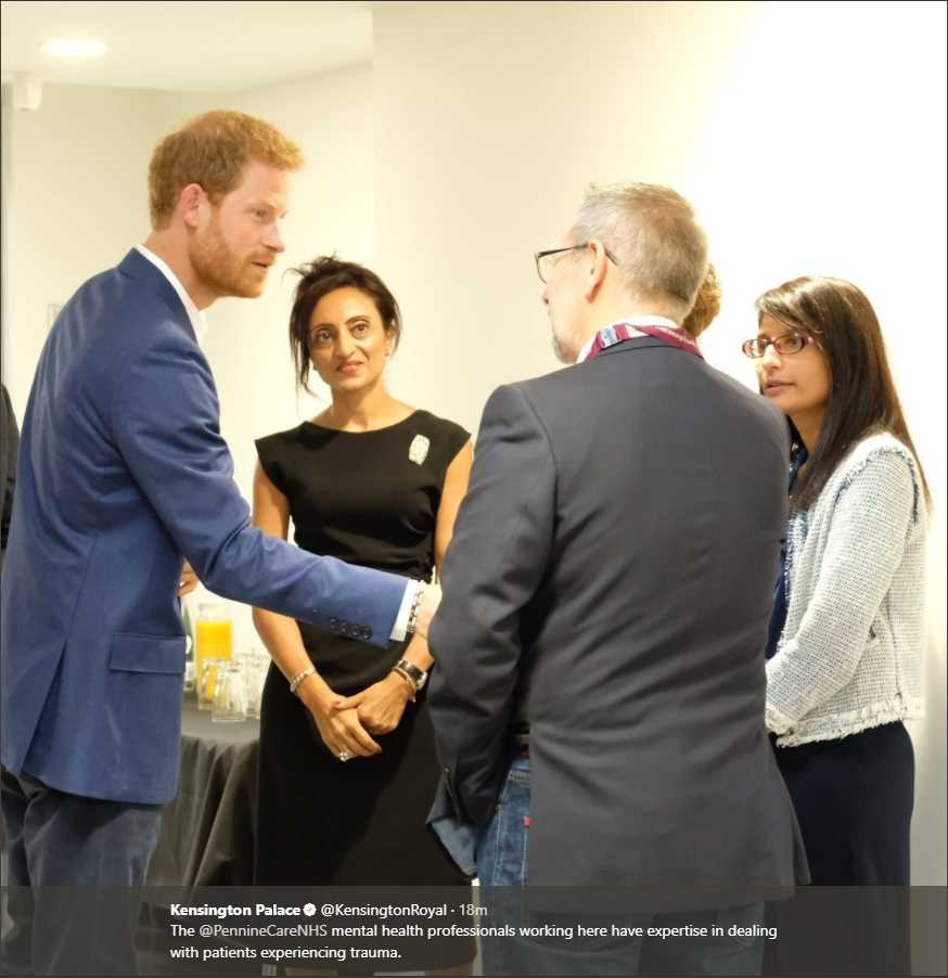 The @PennineCareNHS mental health professionals working here have expertise in dealing with patients experiencing trauma.Photo (C) KENSINGTON PALACE TWITTER