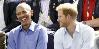 TORONTO, ON - SEPTEMBER 29: Former U.S. President Barack Obama and Prince Harry on day 7 of the Invictus Games 2017 on September 29, 2017 in Toronto, Canada. (Photo by Chris Jackson/Getty Images for the Invictus Games Foundation )