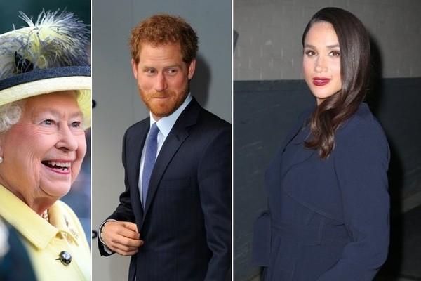 Queen Elizabeth Prince Harry Meghan Markle Photo (C) GETTY IMAGES