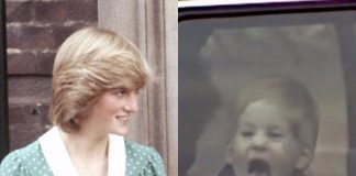 A young Prince Harry sticks out his tongue at photographers. Hulu Photo C AP