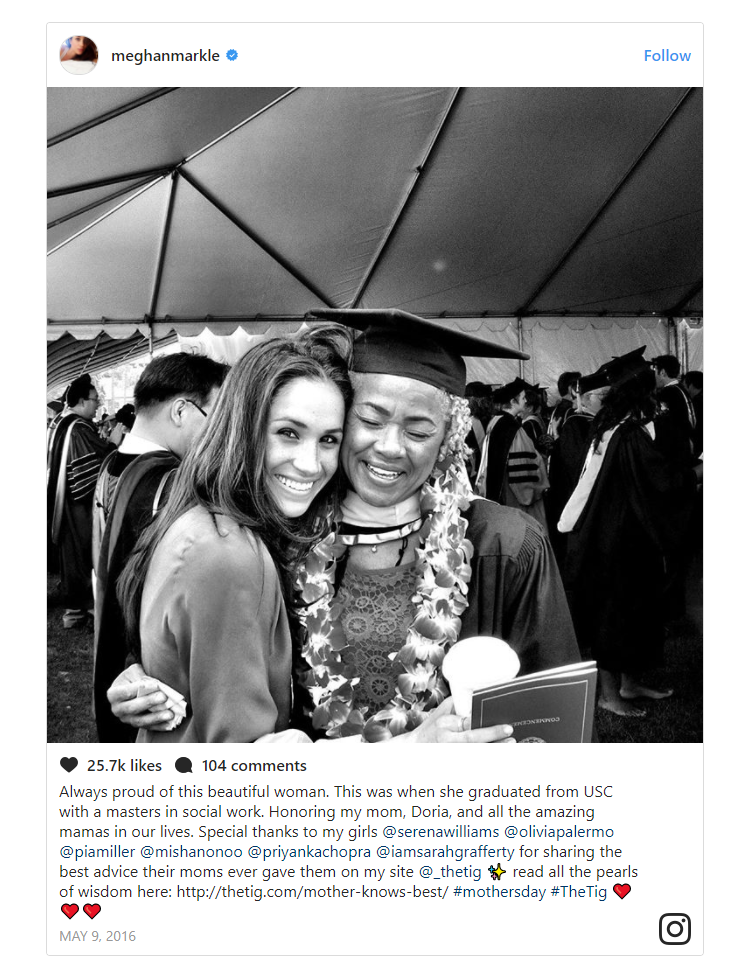 Always proud of this beautiful woman. This was when she graduated from USC with a masters in social work Photo (C) INSTAGRAM