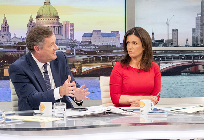 Good Morning Britain Meghan Markle fans have slammed Piers Morgan for his vulgar comments about the star [ITV]