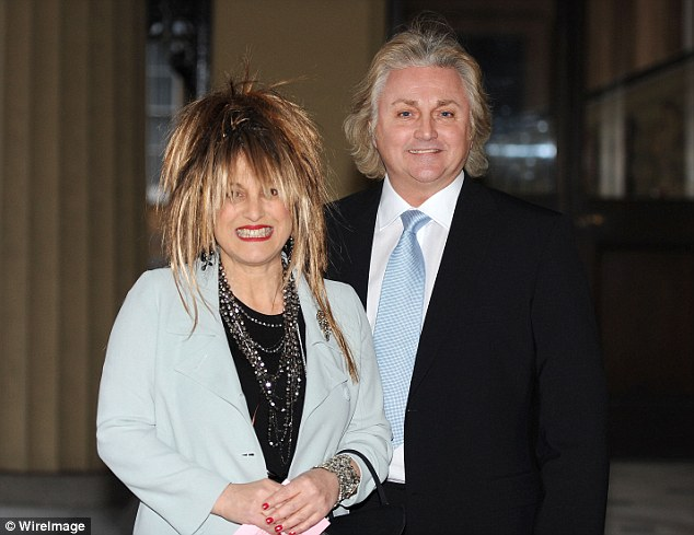 David Emanuel designed Princess Diana's death with his then wife Elizabeth (pictured left in 2010)