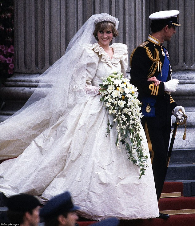 David says Diana's fairy-tale style has come back into fashion, while modern brides are also picking fishtail designs