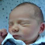 Dexter Davis Charles Savory, born on August 30 at 00.02am and weighing 6lb 9oz Photo (C) BURTONMAIL CO UK