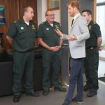 During his visit the focusing on the emergency services and young people Photo C PA