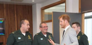 During his visit, the focusing on the emergency services and young people Photo (C) PA