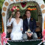 Eliza the half sister of Sarah Ferguson Duchess of York married partner Harry Cobb at a lavish ceremony in the village of Dummer