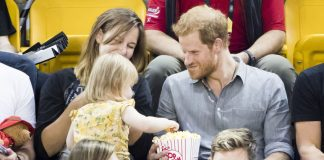 Emily gets caught stealing popcorn by the Prince Photo C NEWS SKY