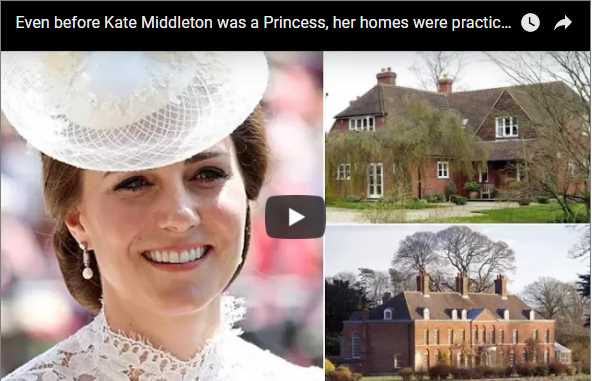 Even before Kate Middleton was a Princess her homes were practically palaces