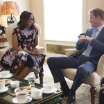 For Prince Harry its not his only encounter with a First Lady. He famously got along well with former First Lady Michelle Obama