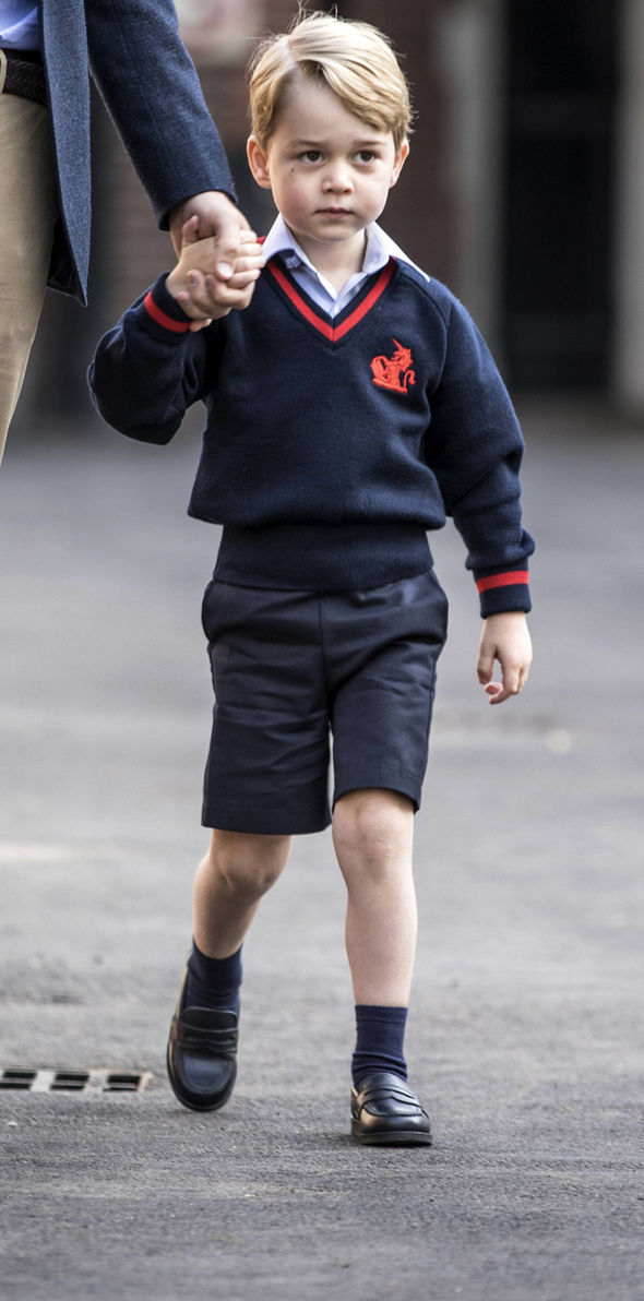 George was dressed smartly in the school's summer uniform Photo (C) PA