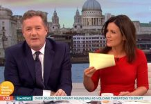 Good Morning Britain Susanna told Piers off as viewers at home slammed the host [ITV]